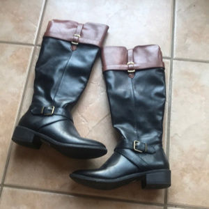 3/$30 Rampage Imagine Black/Brown Riding Boots 6M